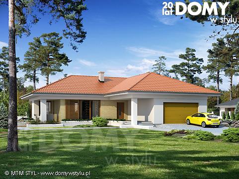 Projekty domów parterowych - Domywstylu.pl